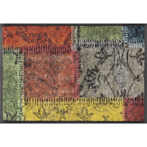 wash+dry Schmutzfangmatte Vintage Patches - 75 x 190 cm