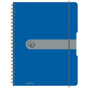 herlitz Spiralblock to go - DIN A4 - kariert - blau - 80...