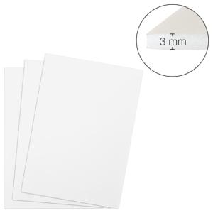 Foam Board 3mm 500x700mm weiß 25St