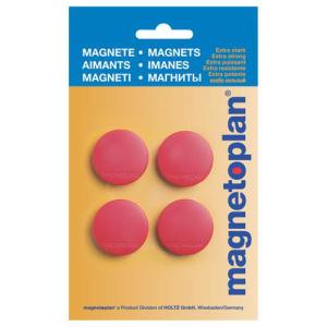Magnetoplan Discofix Standard geblistert rot