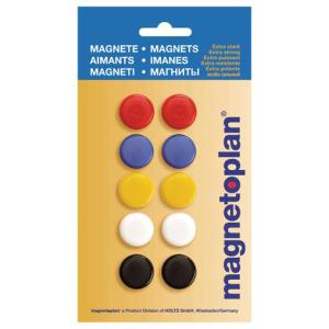 magnetoplan Signalmagnet farbig sortiert 20 mm, 10 Stk