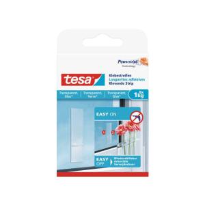 tesa Klebestreifen transparent und Glas - Tragkraft bis 1 Kg
