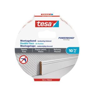 tesa Montageband für Tapete und Putz - 5 m x 19 mm -...