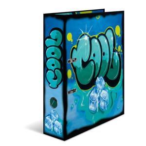 Herma 7149 Motivordner - DIN A4 - Karton - Graffiti - blau