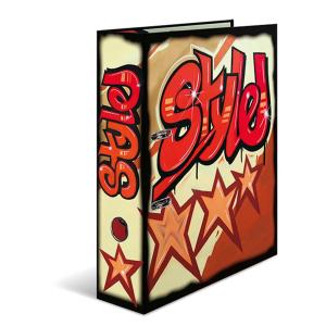 Herma 7159 Motivordner - DIN A4 - Karton - Graffiti - rot...