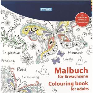 Stylex Malbuch - 24 x 24 cm - 24 Seiten - 2 Motive sortiert