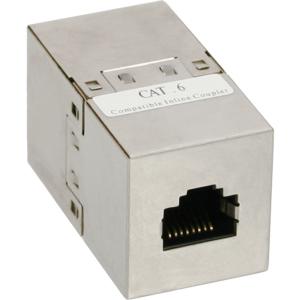 InLine Patchkabelkupplung Cat.6, 2x RJ45 Buchse, geschirmt
