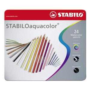 STABILO aquacolor Aquarell-Buntstift - 24er Metalletui