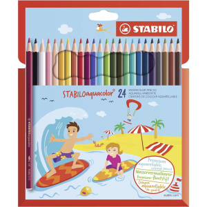STABILO® Farbstift aquacolor Kartonetui 24St