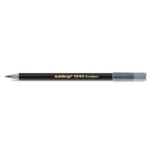 edding 1340 brush pen Pinselmaler - silbergrau