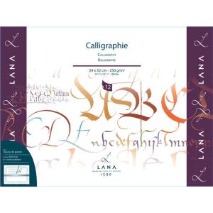 Lana Calligraphie - 250 g/m² - 24 x 32 cm - 12 Blatt