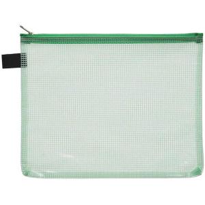 FolderSys Kleinkram-Beutel A5+, Zipp, grün transparent