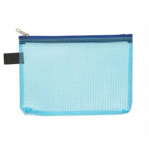 FolderSys Kleinkram-Beutel A6+, Zipp, blau transparent