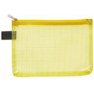 FolderSys Kleinkram-Beutel A6+, Zipp, gelb transparent