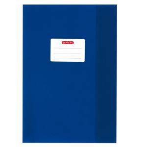 herlitz Hefthülle - DIN A4 - Baststruktur - dunkelblau