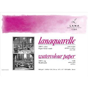 Lana Lanaquarelle Block - 300 g/m² -  rau - 18 x 26...