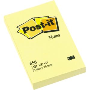 Post-it Haftnotiz, 51x76mm, Blatt 100/Block, gelb