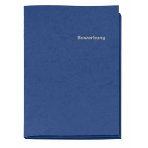 VELOFLEX Bewerbungsmappe - DIN A4 - Karton - 3-teilig - blau