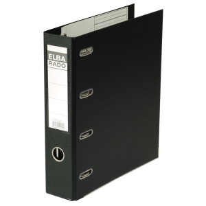 ELBA Doppelordner rado plast 2xA5 quer schwarz