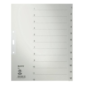 Leitz Zahlenregister - DIN A4+ - 1-12 - Tauenpapier -...