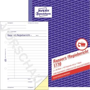 Avery Zweckform Rapport 1770 DIN A5 2x40Blatt