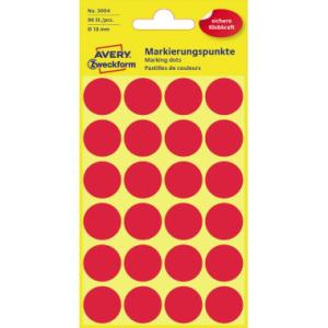 Avery Markierungspunkte  18mm, PG=96ST, rot