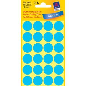Avery Zweckform Markierungspunkte,  18mm, PG=96ST, blau