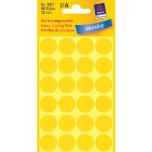 Avery Zweckform Markierungspunkte,  18mm, PG=96ST, gelb