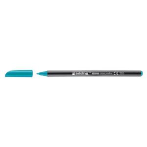 edding 1200 colour pen fine Fasermaler - 1 mm - türkis