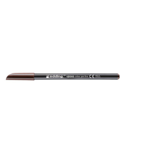 edding 1200 colour pen fine Fasermaler - 1 mm - dunkelbraun