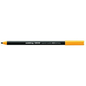 edding Fasermaler edding 1300, Color Pen, brilliantgelb