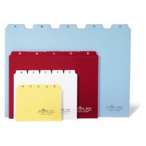 Durable Leitregister A-Z, Kunststoff, DIN A5 quer, blau