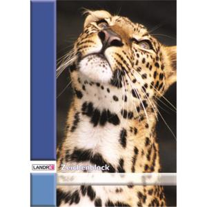 Landré Zeichenblock A4, 10 Bl. 100g 4 Motive,...