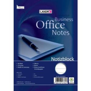 Landré Notizblock OFFICE, mit Spirale, A5,...