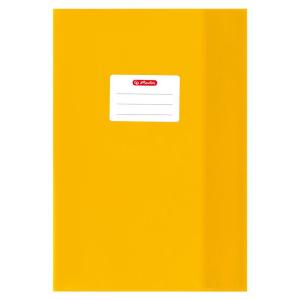 herlitz Hefthülle - DIN A4 - Baststruktur - gelb