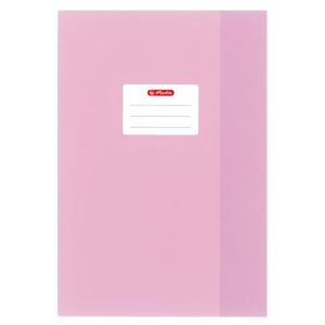 herlitz Hefthülle - DIN A4 - Baststruktur - rosa