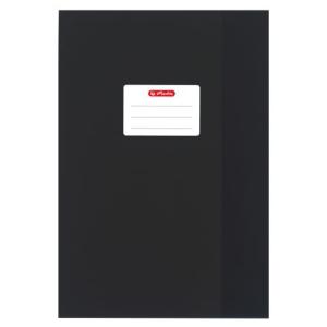 herlitz Hefthülle - DIN A4 - Baststruktur - schwarz