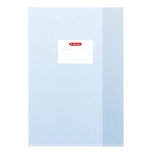 herlitz Hefthülle - DIN A4 - Baststruktur - hellblau