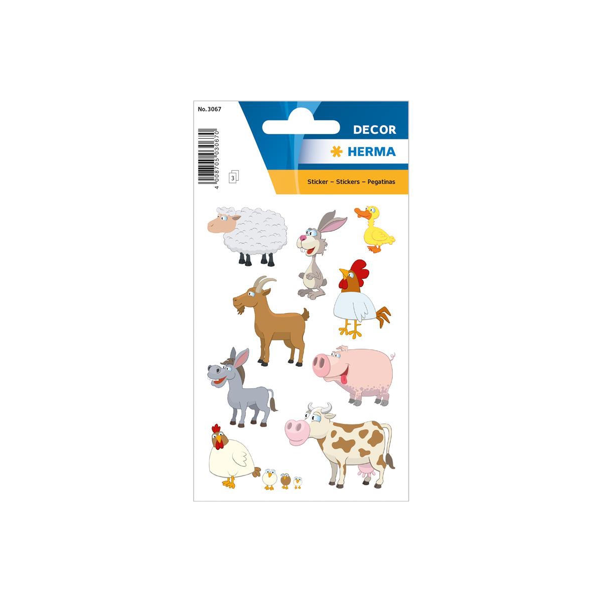 "HERMA Sticker DECOR /""Igel/"" 3 Blatt à 16 Sticker"