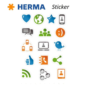 Herma 3232 MAGIC Sticker - Social Media Icons