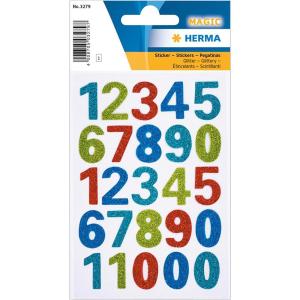Herma 3279 MAGIC Sticker - Zahlen - glitzernd - 25...