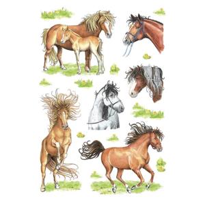 Herma 3307 DECOR Sticker - gezeichnete Pferde - 18 Sticker