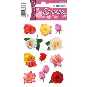 Herma 3308 DECOR Sticker - Rosenblüten - 33 Sticker