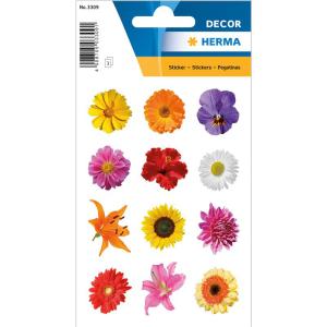 Herma 3309 DECOR Sticker - Bunte Gerberas - 36 Sticker