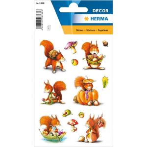 Herma 3368 DECOR Sticker - Eichhörnchen - 42 Sticker