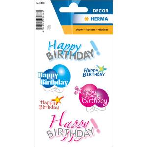 Herma 3408 DECOR Sticker - Happy Birthday - 18 Sticker