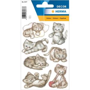 Herma 3477 DECOR Sticker - Drolliges Kätzchen - 21...