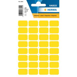 Herma 3641 VARIO Vielzwecketiketten - 12 x 18 mm - gelb...