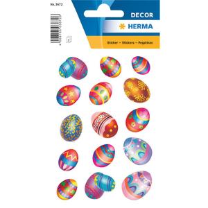 Herma 3672 DECOR Sticker - Ostereier - beglimmert - 30...