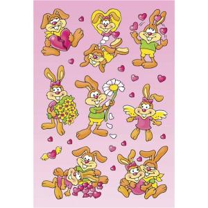 Herma 3676 DECOR Sticker - Verliebte Hasen -  3 Blatt
